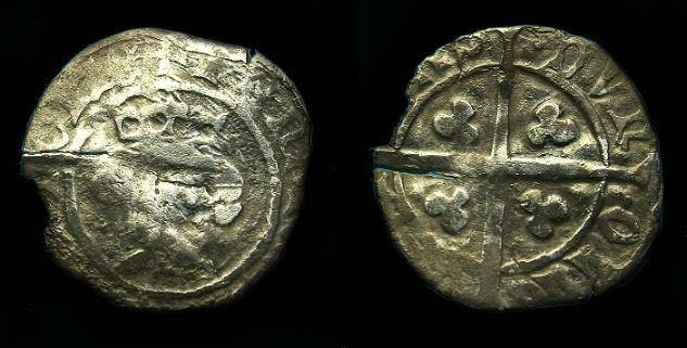 Ancient Coins - Henry IV.  Ar penny.  1412-1413.  VERY RARE KING.
