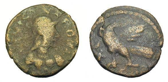 Ancient Coins - Ostrogoths.  Athalaric.  Ae follis.  C. 522-534 AD. Rome mint.  RARE