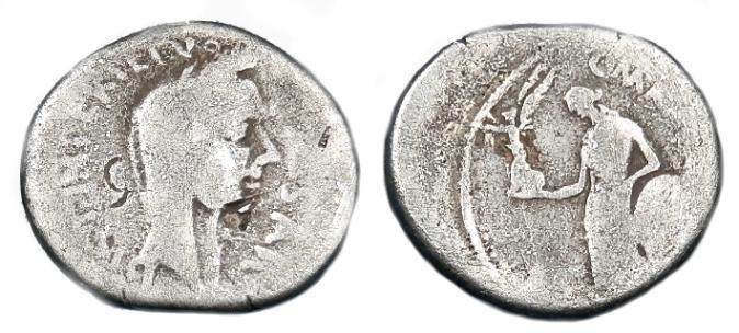 Ancient Coins - RARE JULIUS CAESAR AR DENARIUS