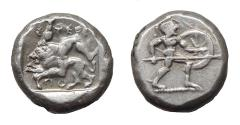 Ancient Coins - Pamphylia.  Aspendos.  Ar Stater.  Nice Example