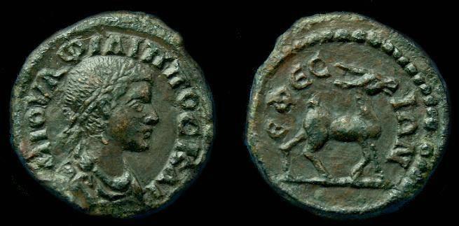 Ancient Coins - Philip ll.  Ae 17.  C. 247-249 AD.