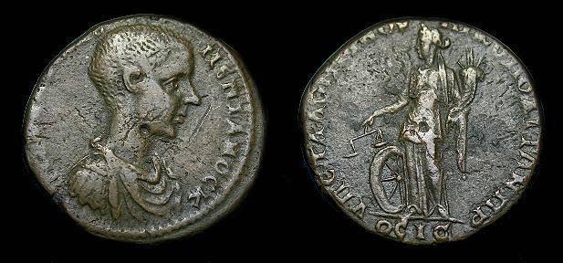 Ancient Coins - Diadumenian.  Ae26.  217-218 AD.  Scarce.