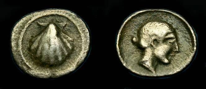 Ancient Coins - Calabria.  Tarentum.  Ar litra.  500-430 BC.  Ex Vlasto collection.