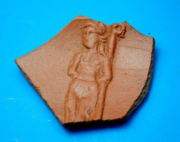 Ancient Coins - Roman red ware sherd.  A very interesting subject.  C. 4th century AD.