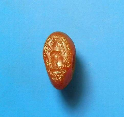 Ancient Coins - Sasanian carnelian stamp seal. C.4th-5th century AD.