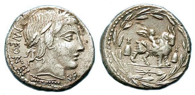 Ancient Coins - M N FONTIUS C F  AR DENARIUS