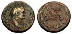 Ancient Coins - Vespasian Ae Sestertius
