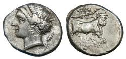 Ancient Coins - CAMPANIA NEAPOLIS AR NOMOS