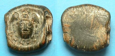 Ancient Coins - ROMAN GLASS MEDUSA HEAD BEAD