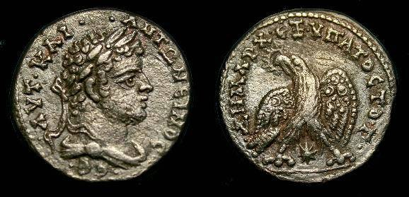 Ancient Coins - Caracalla.  At tetradrachm.  198-217 AD.