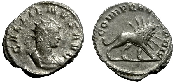 Ancient Coins - GALLIENUS AR ANTONINIANUS MILAN MINT