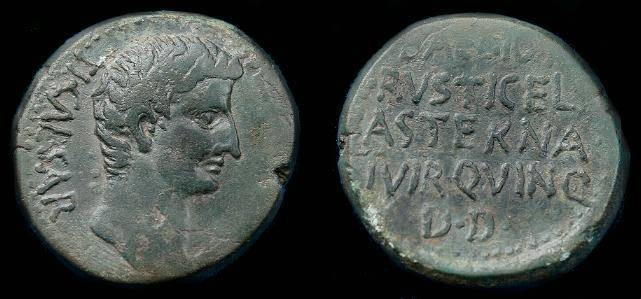 Ancient Coins - Tiberius.  Ae 23.  Macedonia.  Pella.  14-37 AD.  Pleasing coin.