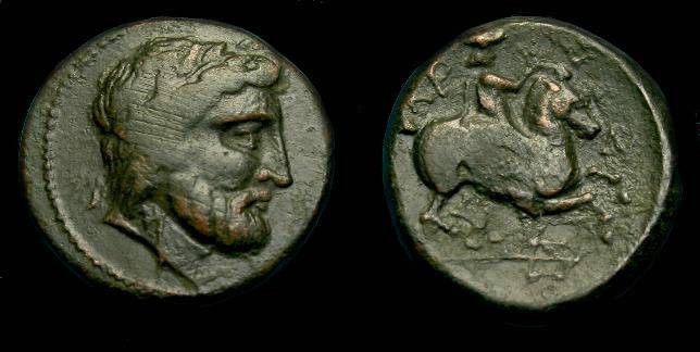 Ancient Coins - Thessaly.  Krannon.  Ae 17.  400-344 BC.  Scarce.