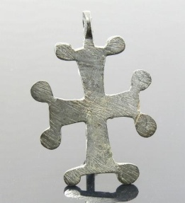 Ancient Coins - LARGE BYZANTINE BRONZE CROSS