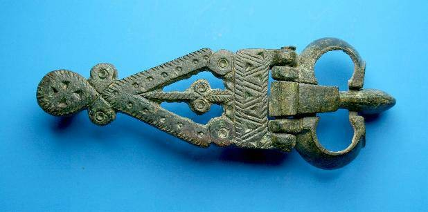 Ancient Coins - Nice early Byzantine openwork military buckle.  C. 5th-6th century AD.
