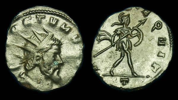 Ancient Coins - Aureolus under Postumus.  Ae ant.  C. 268 AD.  SCARCE.