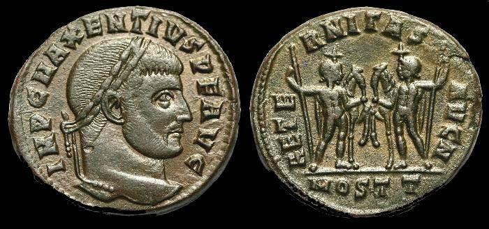 Ancient Coins - Maxentius.  Ae follis.  C. 309-312 AD.  Ostia mint.