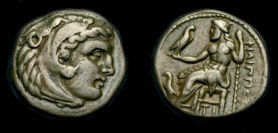 Ancient Coins - Philip III.  Ar drachm.  323-319 BC.  Nice coin.