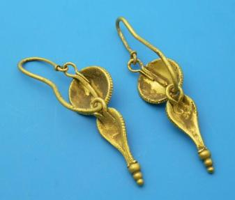 Ancient Coins - ROMAN GOLD EARRINGS