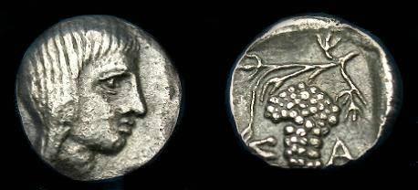 Ancient Coins - Thrace.  Saratokos.  Ar trihemiobol.  400 BC.  Super detail and scarce.