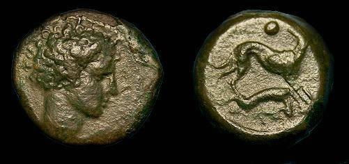 Ancient Coins - Sicily.  Segesta.  Ae uncia.  410 BC.  Rare coin.