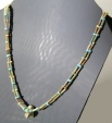 Ancient Coins - EGYPTIAN NEW KINGDOM FAIENCE BEAD AND AMULET NECKLACE