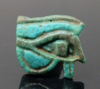 Ancient Coins - EGYPTIAN FAIENCE EYE OF HORUS AMULET. NICE STYLE