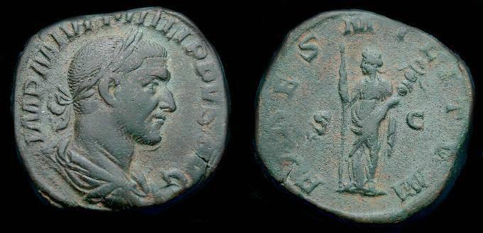 Ancient Coins - Philip I.  Ae sestertius.  244-245 AD.  Pleasing coin.