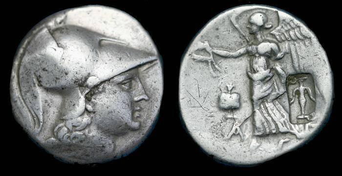 Ancient Coins - Pamphylia.  Side.  Ar tetradrachm.  C. 183-175 BC.