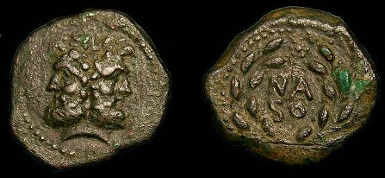 Ancient Coins - Sicily.  Panormos.  Ae as.  After 241 BC.  Scarce type.