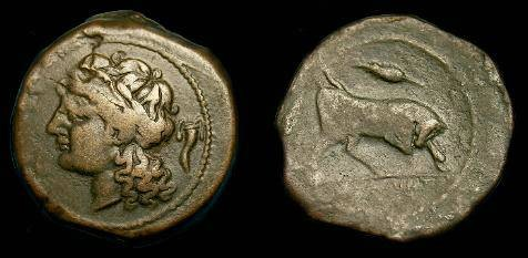 Ancient Coins - Gaul.  Massalia.  Ae24.  200-49 BC.  Scarce.