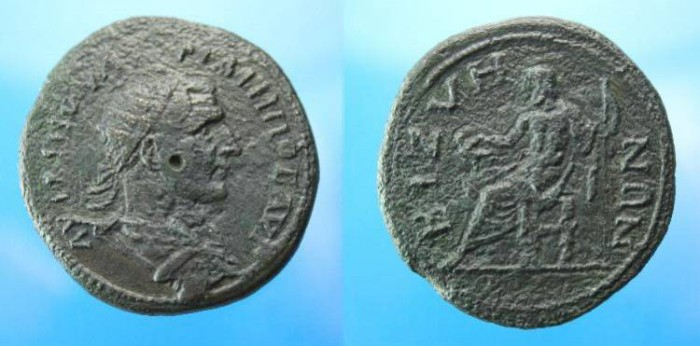 Ancient Coins - Philip I.  Ae 35.  C. 244-249 AD.