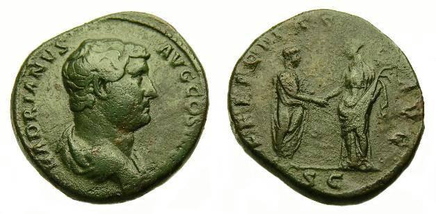 Ancient Coins - HADRIAN  AE AS