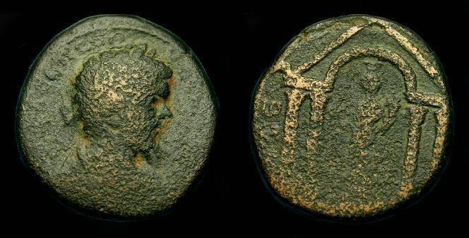 Ancient Coins - Septimius Severus.  Ae 25.  Judaea.  Eleutheropolis. 193-211 AD.  Scarce.