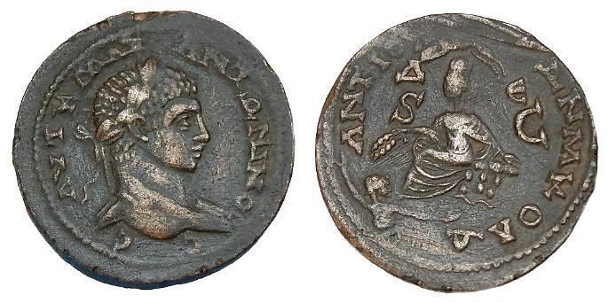 Ancient Coins - ELAGABALUS AE 33 SELEUCIS AND PIERIA ANTIOCH
