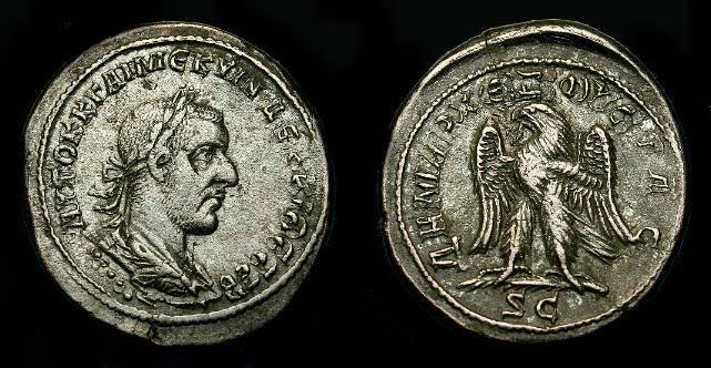 Ancient Coins - Trajan Decius.  Ar tetradrachm.  249-251 AD.  Seleucis and Pieria.  Large flan.