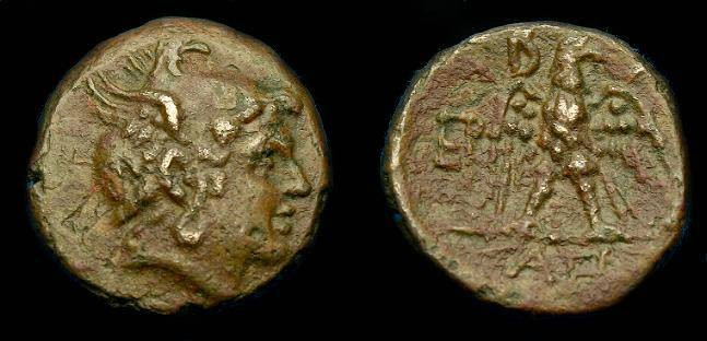 Ancient Coins - Kingdom of Macedon.  Perseus.  Ae 19.  178-168 BC.  Nice detail.