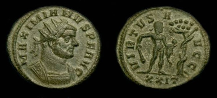 Ancient Coins - Maximianus.  Ae ant.  286-294 AD.  VERY RARE HERCULES TYPE.