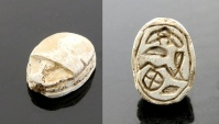 Ancient Coins - EGYPTIAN STEATITE SCARAB AMULET