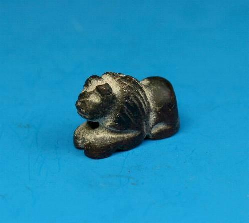 Ancient Coins - Phoenician stone lion bead/amulet.  C. 700-500 BC.
