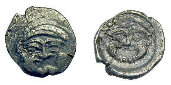 Ancient Coins - Samaria.  Ar obol.  C. 375-333 BC.  Scarce
