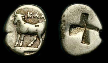 Ancient Coins - Bithynia, Kalchedon.  Ar hemidrachm.  4th century BC.
