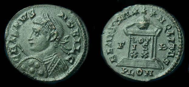 Ancient Coins - Crispus.  Ae 3. C. 316-326 AD.  SCARCE!