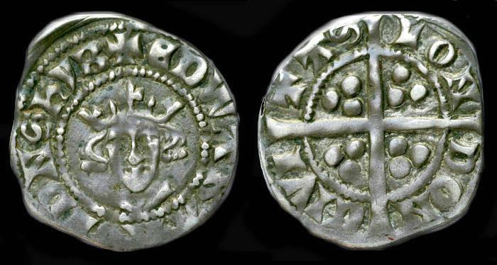 Ancient Coins - Edward I.  Ar penny.  C. 1279-1307.