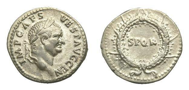 Ancient Coins - SCARCE VESPASIAN. AR DENARIUS