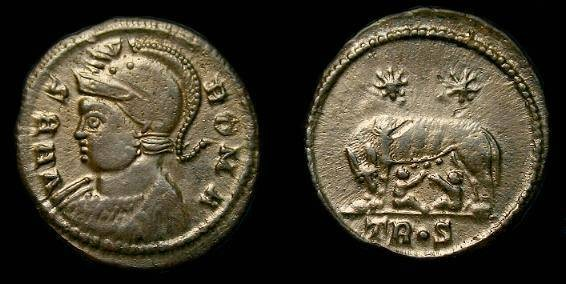 Ancient Coins - Constantine I the Great.  Ae 3/4.  307-337 AD.