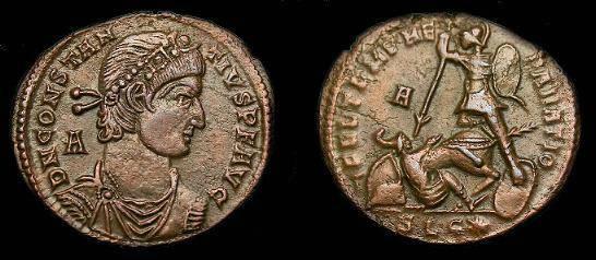 Ancient Coins - Constantius II.  Ae centennionalis.  337-361 AD.
