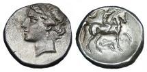 Ancient Coins - CALABRIA TARENTUM AR NOMOS