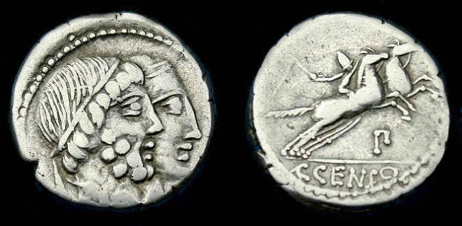 Ancient Coins - C Marcius Censorinus.  Ar denarius.  88 BC.  Pleasing coin.