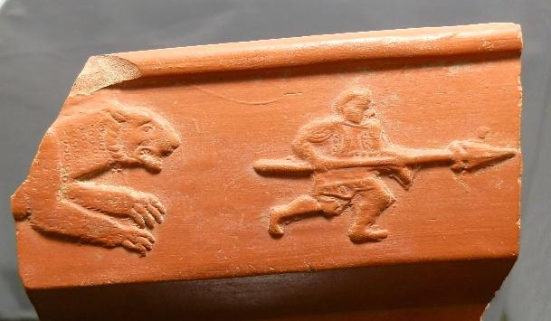 Ancient Coins - ROMAN GLADIATOR RED WARE SHERD